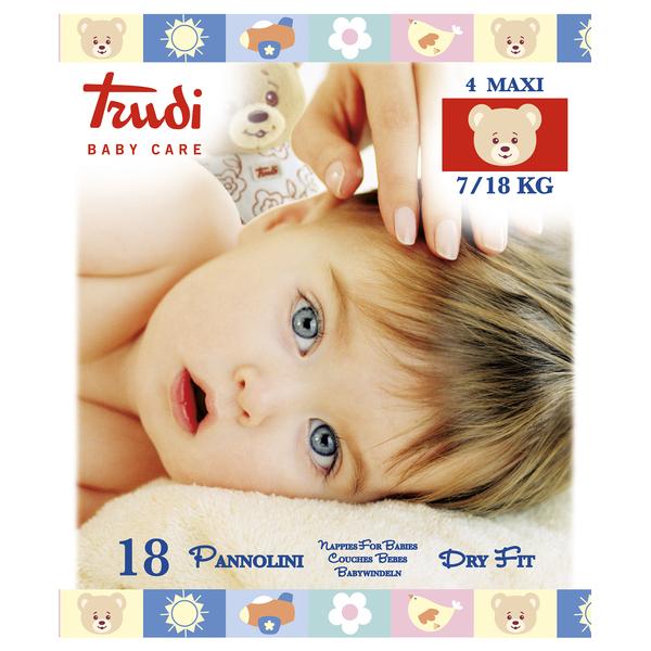 Zobrazit detail výrobku Trudi Dětské pleny Dry Fit s vrstvou Perfo-Soft velikost Maxi 7-18 kg 18 ks