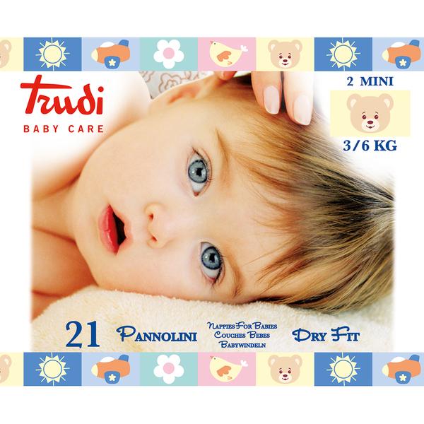 Zobrazit detail výrobku Trudi Dětské pleny Dry Fit s vrstvou Perfo-Soft velikost Mini 3-6 kg 21 ks
