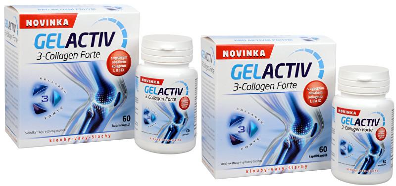 Zobrazit detail výrobku SALUTEM Pharma Gelactiv 3-Collagen Forte 60 kapslí + 60 kapslí ZDARMA