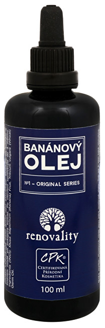 Banánový olej za studena lisovaný 100 ml