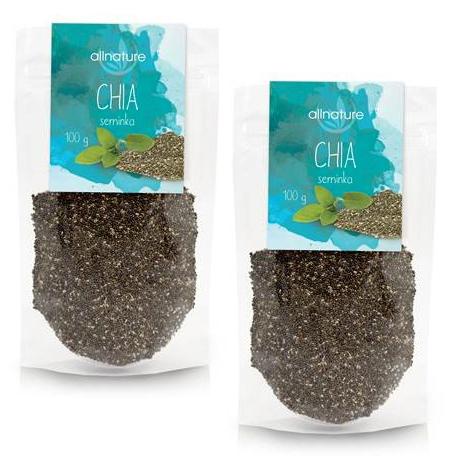 Zobrazit detail výrobku Allnature Chia semínka 100 g + 100 g ZDARMA