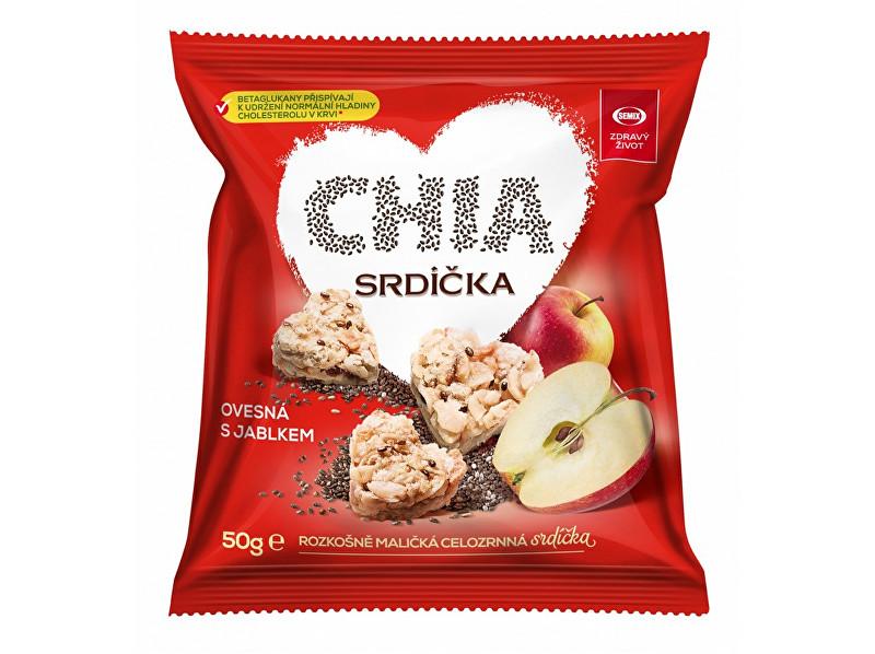 Semix Chia srdíčka ovesná s jablkem 50g