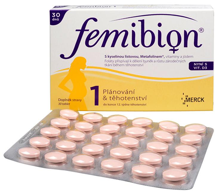 Zobrazit detail výrobku FEMIBION Femibion 1 s vitamínem D3 30 tbl.
