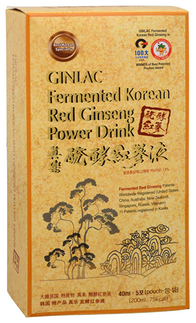Fermented Red Ginseng Power Drink MILD - ženšenový nápoj 5 x 40 ml