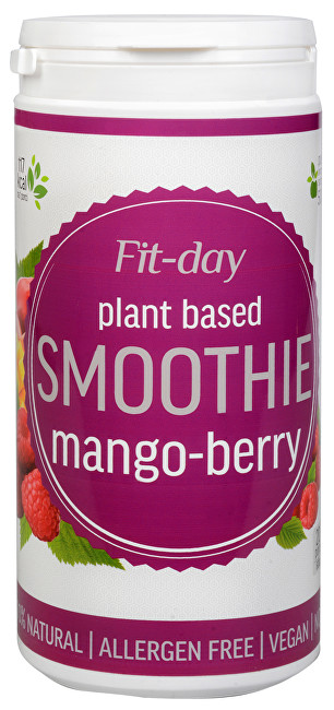 FIT-DAY Plant based smoothie MANGO-BERRY 600 g