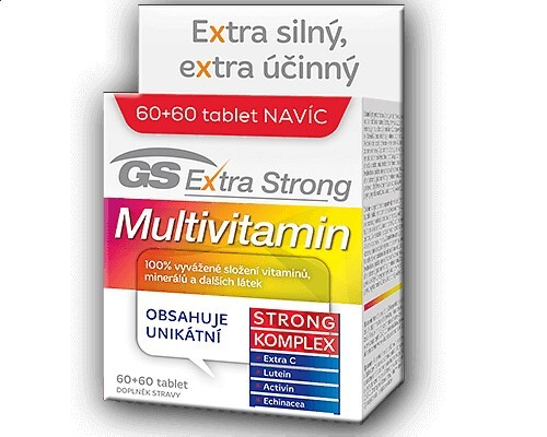 GS Extra Strong Multivitamin 60 tbl. + 60 tbl. ZDARMA