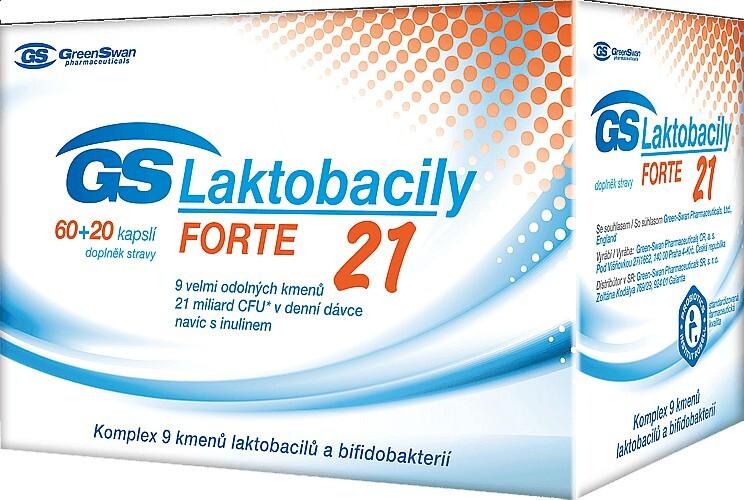 Zobrazit detail výrobku GreenSwan GS Laktobacily Forte21 60 kapslí + 20 kapslí ZDARMA