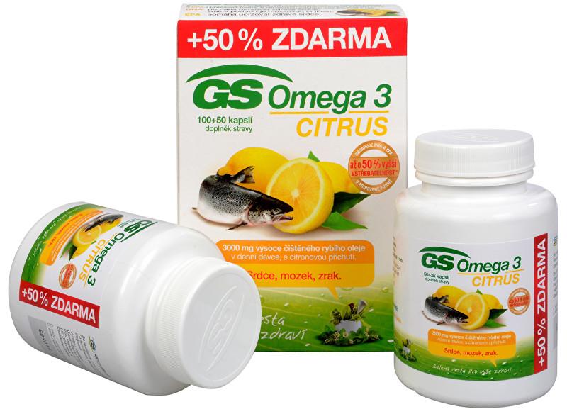 Zobrazit detail výrobku GreenSwan GS Omega 3 Citrus 100 kapslí + 50 kapslí ZDARMA