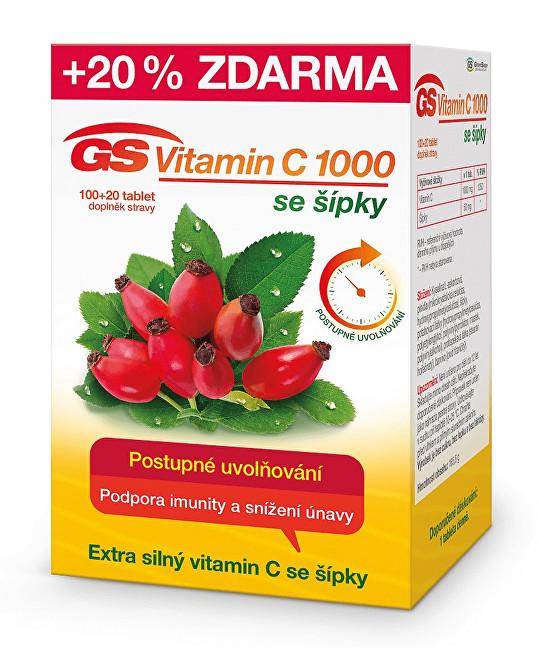 Zobrazit detail výrobku GreenSwan GS Vitamin C 1000 + šípky 100 tbl. + 20 tbl. ZDARMA