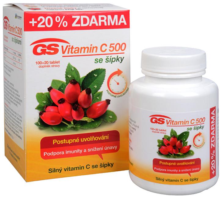 Zobrazit detail výrobku GreenSwan GS Vitamin C 500 + šípky 100 tbl. + 20 tbl. ZDARMA