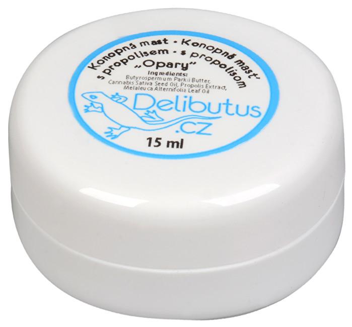 Delibutus Konopná mast na opary s propolisem 15 ml