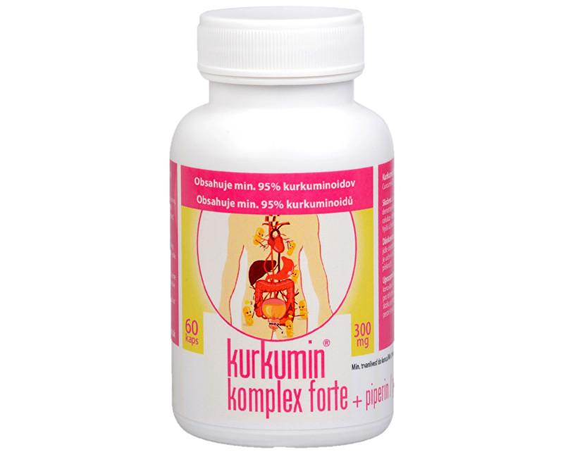 Synergia Kurkumin komplex FORTE 300 mg + piperin 60 kapslí