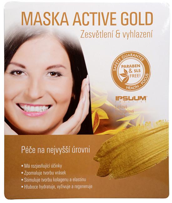 Maska Active Gold - hydrogelová látková