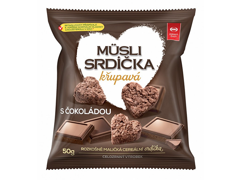 Zobrazit detail výrobku Semix Musli srdíčka křupavá s čokoládou 50g