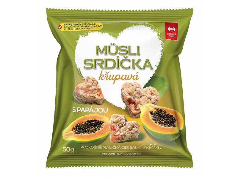 Zobrazit detail výrobku Semix Musli srdíčka křupavá s papájou 50g