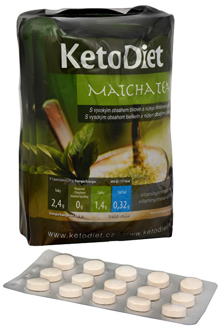 KetoDiet Matcha Tea 7x27 g + Čokoláda 15 tbl.