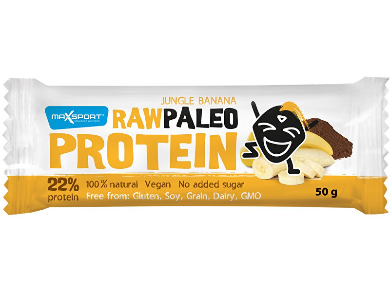 Max sport Tyčinka Raw paleo protein Jungle Banana 50g