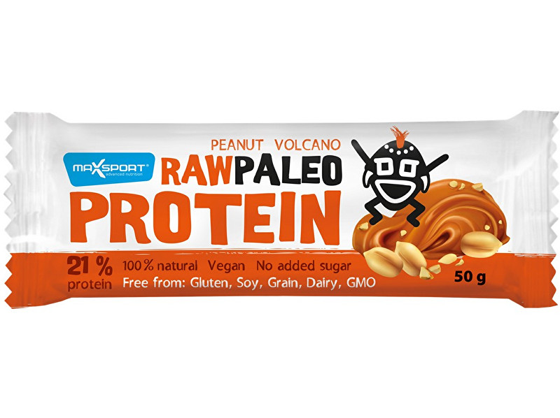 Zobrazit detail výrobku Max sport Tyčinka Raw paleo protein Peanut Volcano 50g
