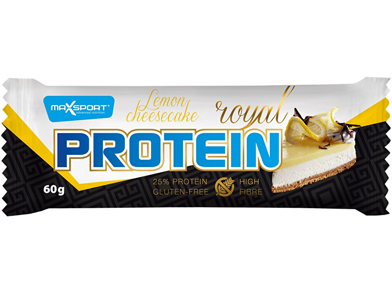 Max sport Tyčinka proteinová Royal protein delight lemon cheesecake 60g