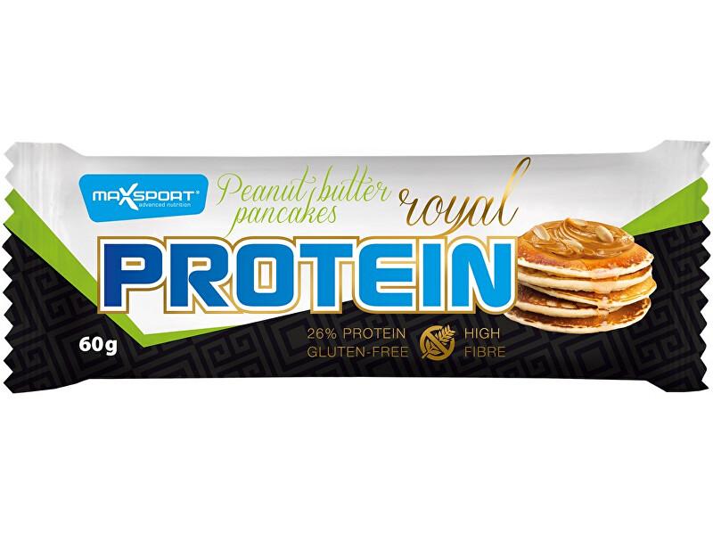 Zobrazit detail výrobku Max sport Tyčinka proteinová Royal protein delight Peanut butter pancakess 60g, min. trv. 19.10.2018