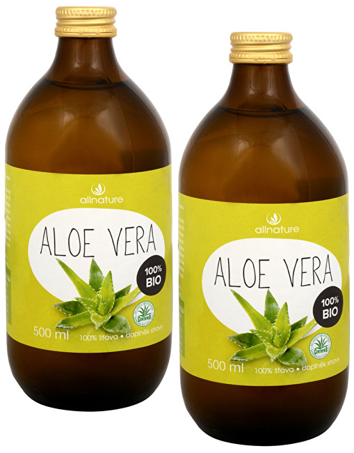 Aloe Vera - 100% Bio šťáva 500 ml (1+1)