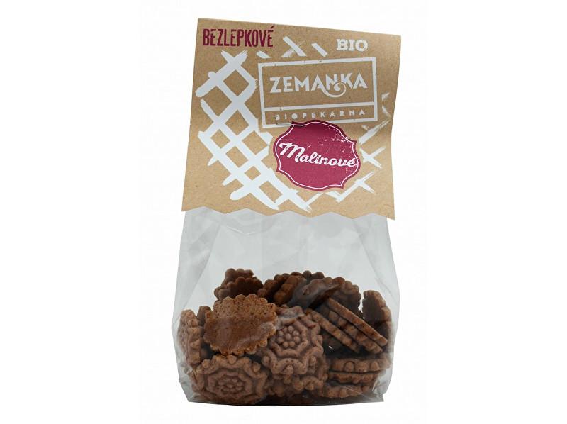Biopekárna Zemanka Bio Bezlepkové pohankovo - malinové sušenky 100g