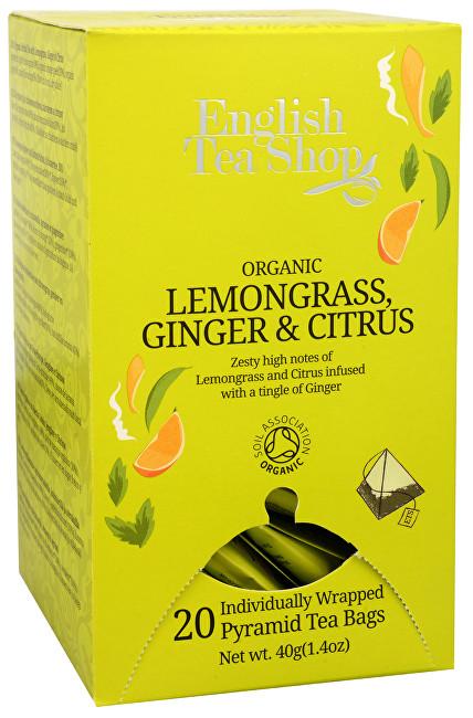 Zobrazit detail výrobku English Tea Shop Čaj Citrónová tráva, zázvor & citrusy 20 pyramidek