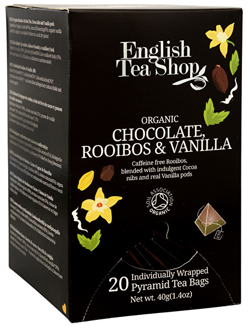 Zobrazit detail výrobku English Tea Shop Čaj Čokoláda rooibos & vanilka 20 pyramidek
