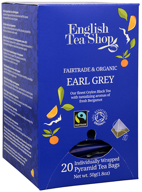 English Tea Shop Čierny čaj Earl Grey s bergamotom 20 pyramidek