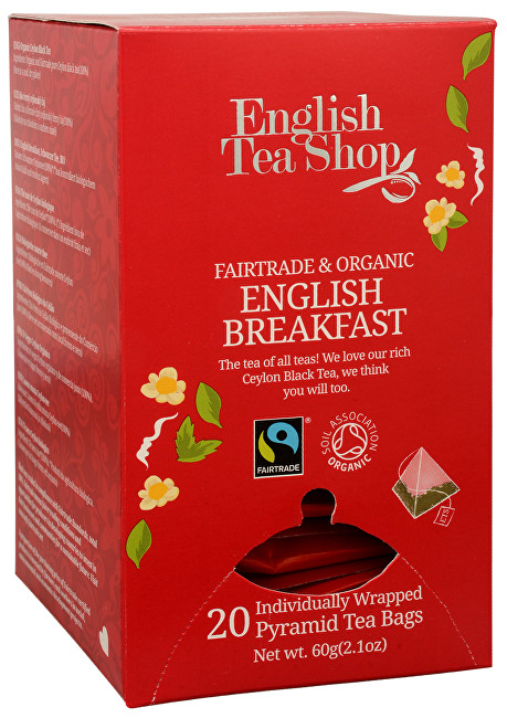 Zobrazit detail výrobku English Tea Shop Černý čaj English Breakfast 20 pyramidek