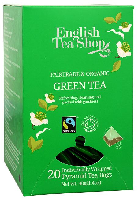 English Tea Shop čistě zelený čaj 20 pyramidek
