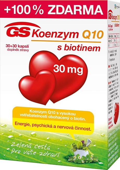 GreenSwan GS Koenzym Q10 30 mg 30 kapslí + 30 kapslí