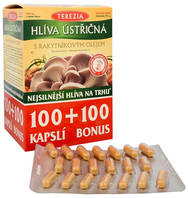 Zobrazit detail výrobku Terezia Company Hlíva ústřičná se 100% rakytníkovým olejem 100 kapslí + 100 kapslí ZDARMA