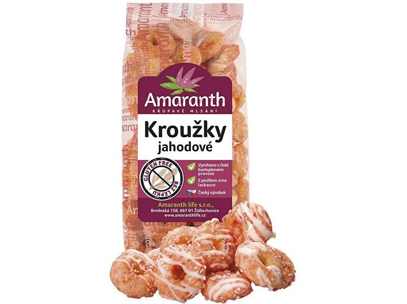 Zobrazit detail výrobku Amaranth life Kroužky jahodové 90g