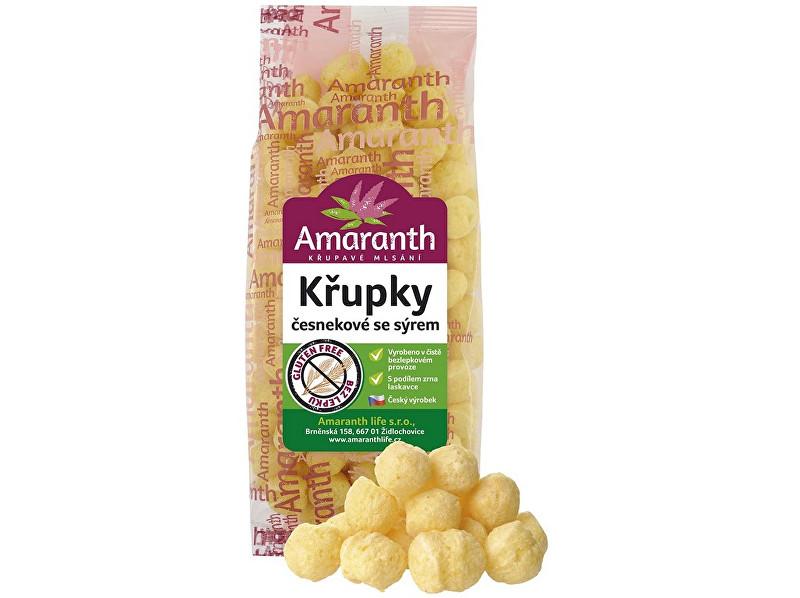 Zobrazit detail výrobku Amaranth life Křupky česnekové se sýrem 80g