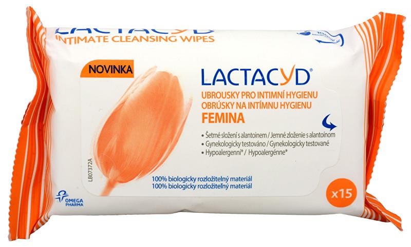 Lactacyd ubrousky Femina 15 ks