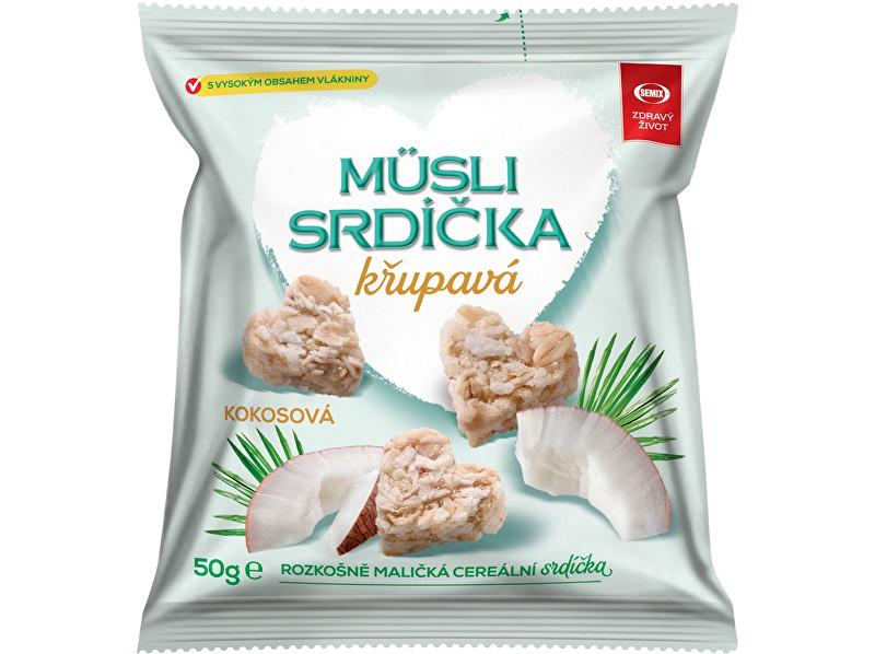 Zobrazit detail výrobku Semix Musli srdíčka křupavá kokosová 50g
