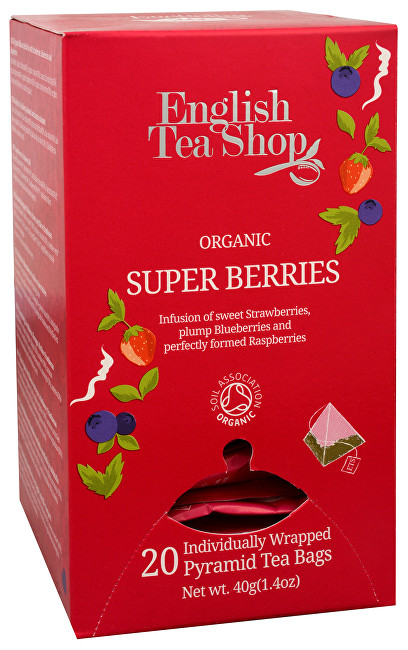 Zobrazit detail výrobku English Tea Shop Super ovocný čaj Rooibos a červené ovoce 20 pyramidek