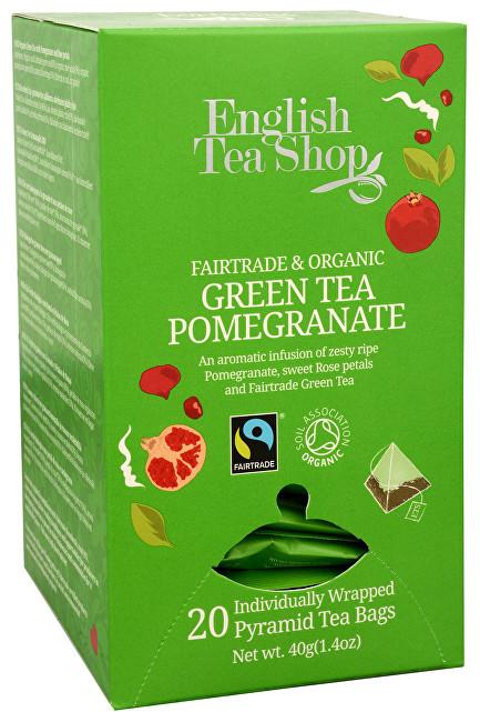 Zobrazit detail výrobku English Tea Shop Zelený čaj s granátovým jablkem 20 pyramidek