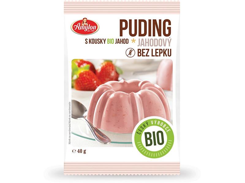 Amylon Bio Puding jahodový Amylon 40g