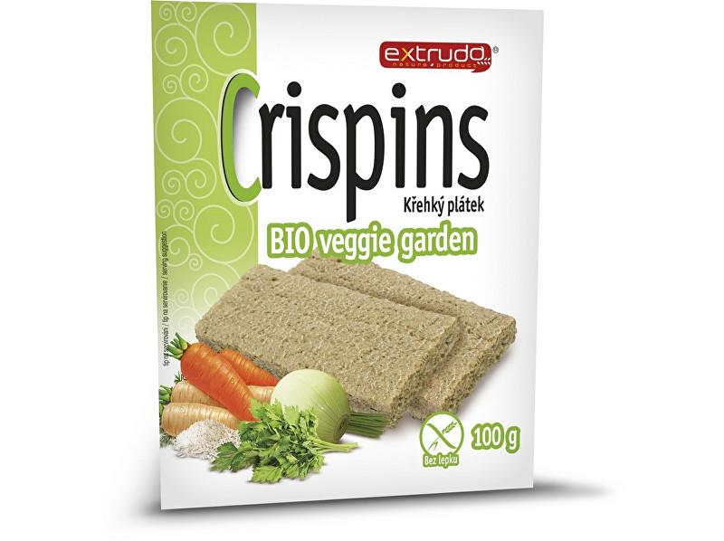 EXTRUDO Bio Cereální křehký chléb Crispins vege garden 2x50g