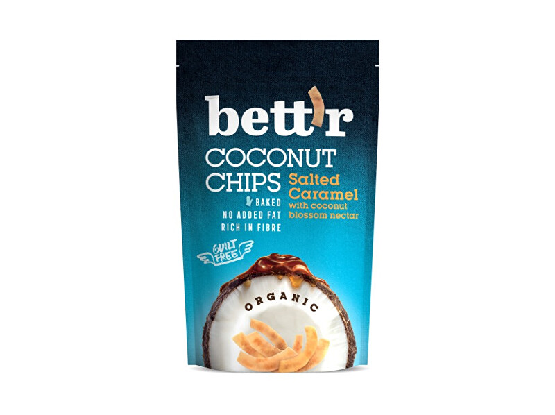 Bettr Bio Kokos chips se slaným karamelem 70g