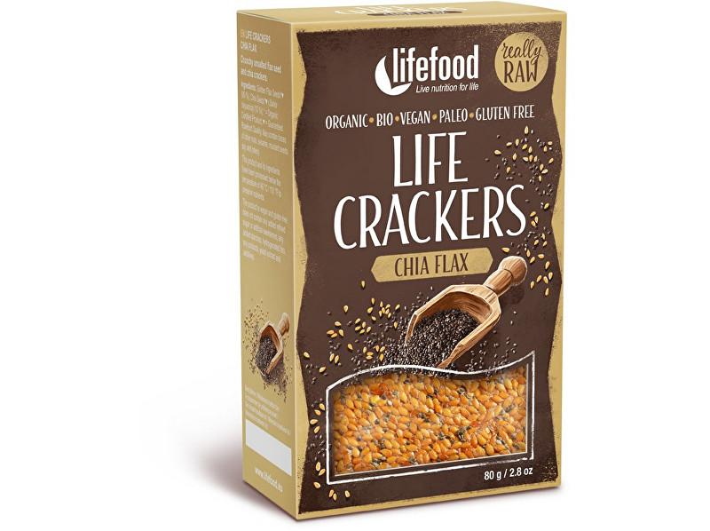 Bio Life crackers  Lněné s chia RAW 80 g