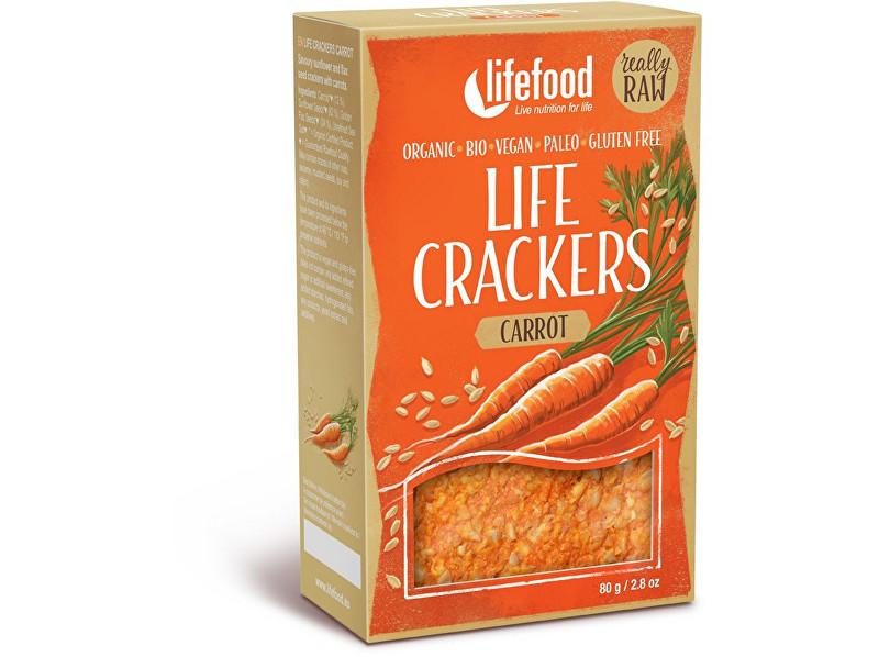 Lifefood Bio Life crackers Mrkvánky RAW 80 g