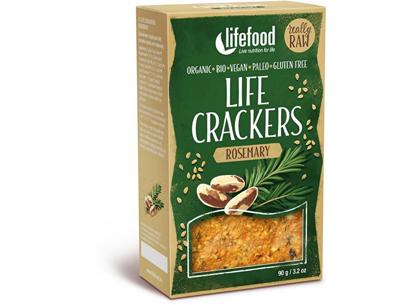 Zobrazit detail výrobku Lifefood Bio Life crackers Rozmarýnové RAW 90 g