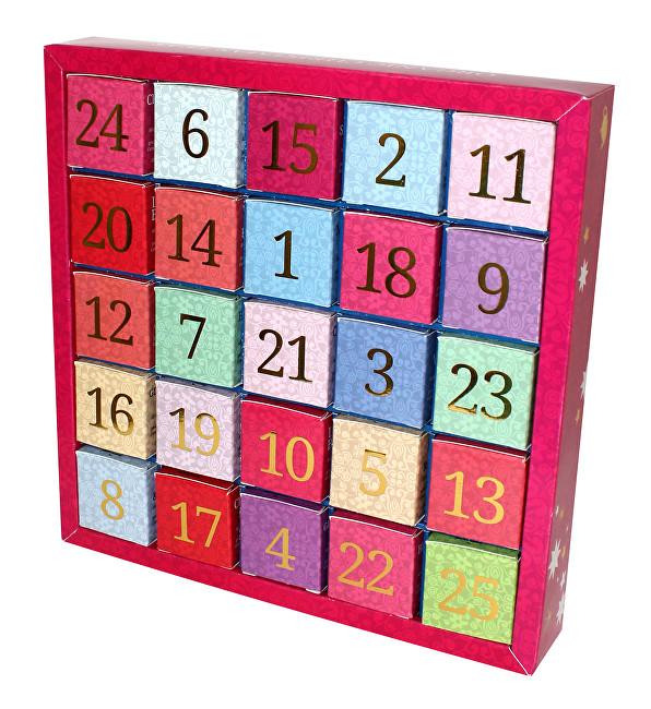 English Tea Shop Adventní kalendář 25 kostek - Vánoční ozdoby Číselný adventní kalendář