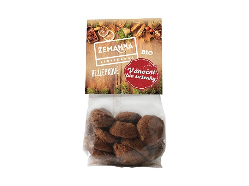 Biopekárna Zemanka Bio vánoční sušenky s vlašskými ořechy bezlepkové 100g