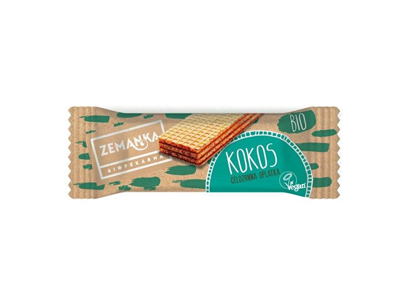 Zobrazit detail výrobku Biopekárna Zemanka Bio celozrnná oplatka zjednozrnky kokosová 30g
