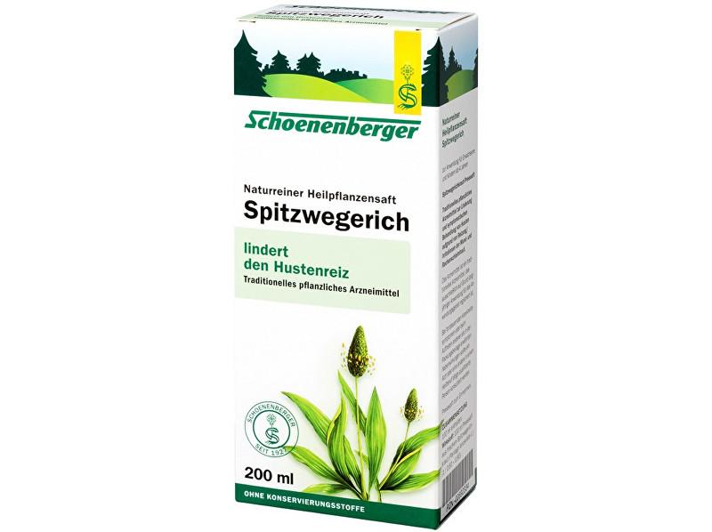 Schoenenberger Bio čerstvá rostlinná šťáva Schoenenberger - Jitrocel 200ml