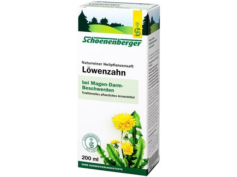 Schoenenberger Bio čerstvá rostlinná šťáva Schoenenberger - Smetánka lékařská 200ml